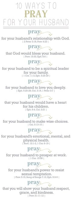 praying for my husband