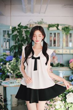 femme style girlie ㅇ Ulzzang Fashion, Asian Fashion, Girl Fashion, Womens Fashion, Korean Beauty Girls, Asian Beauty, Female Portrait, Asian Style, Aesthetic Girl
