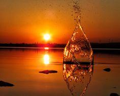 Sunset splash by Koullis Sofokleous, via 500px