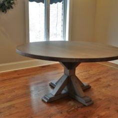 Rustic Elements Furniture custom builds round tables, available in your choice of wood, style, and distress. 60 Inch Round Table, Round Tables, Dining Tables, Custom Furniture, Rustic, Wood, Collection, Home Decor, Kitchen Dining Tables