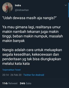 Tweet Quotes, Mood Quotes, Life Quotes, Quotes To Live By, Reminder Quotes, Self Reminder, Jokes Quotes, Qoutes, Quotes Galau