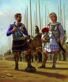King Philip II of Macedon and his legendary son Alexander the Great by Dariusz Bufnal Greek History, Ancient History, Ancient Rome, Ancient Greece, Military Art, Military History, Alexandre Le Grand, Greek Warrior, Alexander The Great