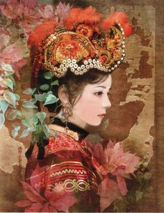 Taiwanese illustrator painting 56 ethnic character [super beautiful hand-painted, 56 full]