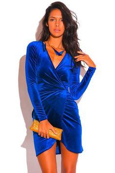 Velvet Slit Dress