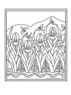 Somewhat adapted for stained glass. Adapted from late image from a French periodical in the Public Domain Colouring Pages, Printable Coloring Pages, Adult Coloring Pages, Coloring Books, Zentangle, Art Nouveau Tattoo, Art Nouveau Pattern, Stencils, Deco Originale