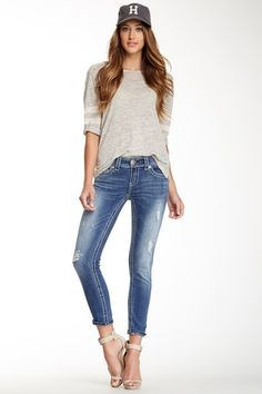 Distressed Skinny Ankle Jean by Seven7 on @HauteLook