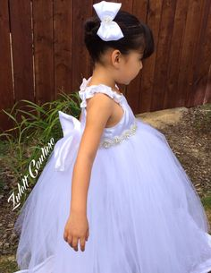 Couture Flower Girl Dress-Baptism Dress-Communion Dress by Zulett Couture  Dresses are available in a variety of colors and can be made to match