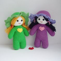 Ravelry: Little girlfriends dolls amigurumi for kids pattern by Ksenia Lark (Ksenia Design)