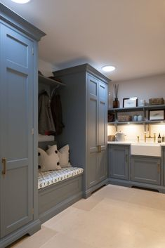 Things We Love: Humphrey Munson for Every Room Utility Room, Handmade Kitchens, Boot Room, Humphrey Munson, Room Design, Contemporary Kitchen Design, Mudroom Laundry Room, Home, Utility Room Designs
