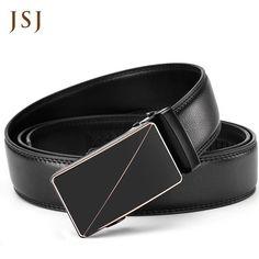 2916da50b95 Jsj Man Belt Famous Brand Belt Men Top Quality Genuine Luxury Leather Belts  For Men Strap Male Metal Automatic Buckle