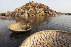Hampi, India. Boats