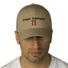 Private Investigator PI Embroidered Hats