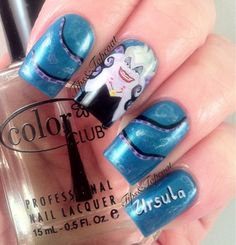disney nail art | Tips and Topcoat: Disney Villains - Ursula Nail Art :)