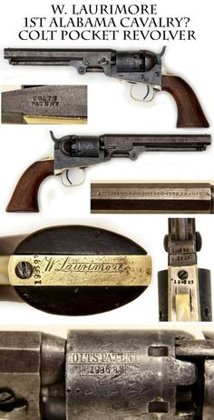 1862 Production Colt Pocket Revolver likely carried in 1st Alabama Cavalry USA…