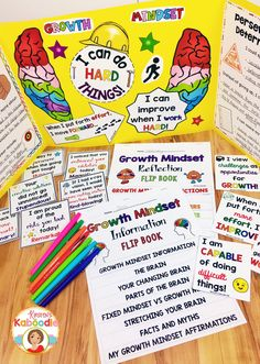 Are you teaching your students about growth mindset? Look no further! This easy to use bundle includes two flip books, growth mindset affirmation posters (the smaller sized cards are shown in the picture on the right), a privacy office template, as well as growth mindset notes from the teacher (left of the flip books)! As a teacher, you will have all the tools you need to help your students not only understand, but live growth mindset concepts!