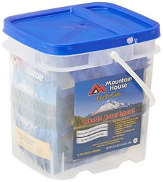 MOUNTAIN HOUSE JUST IN CASE... CLASSIC BUCKET - http://survivingthesheep.com/mountain-house-just-in-case-classic-bucket/