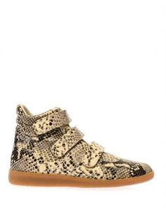 Maison Martin Margiela Printed Leather High-top Trainers