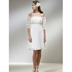 Off The Shoulder Wedding Dresses-Low Price Top Chiffon