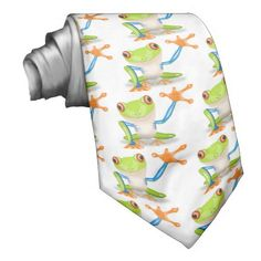 Cute Tree Frog Neck Tie