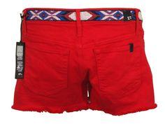 Joe's Jeans Womens Shorts AZTEC Denim Cutoffs Embroidered Waist Red 27 NEW $147 #JoesJeans #Denim