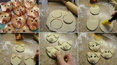 Des petits cochons réalisés en pâte feuilletée pour l'apéro. Trop facile