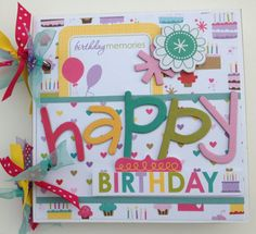 SALE Birthday Girl Scrapbook Mini Album
