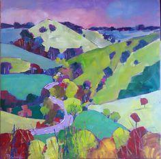 Road to Raglan 76cm x 76cm $800 www.paulinegough.com Medium Art, Mixed Media Art, Painting, Painting Art, Paintings, Mixed Media, Drawings