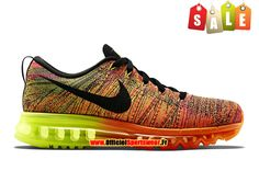 on sale 19761 67159 Nike Flyknit Air Max 2015 - Chaussure de Running Pas Cher Pour Homme Total  Orange Noir-Volt-Fireberry 620469-801. Thomas · chaussures