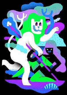 Levi Jacobs - Ilustration Leo Zodiac - www.levijacobs.nl