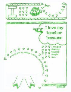 teacher appreciation sheet