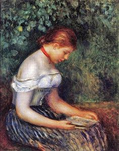 Renoir (French Impressionist Painter, 1841-1919)   The Reader