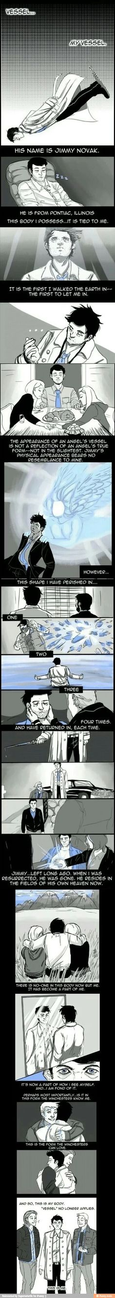 Awwww. I always feel sad knowing that that isn't actually how Cas looks, now I feel better. =)