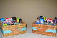 Wedding Bathroom Baskets by AngelfishWeddings on Etsy, $60.00