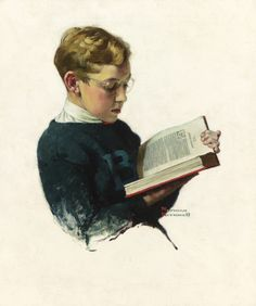 Today Your Boy, Your.. (Boy Reading), 1929. Norman Rockwell (American, 1894-1978). Oil on canvas.
