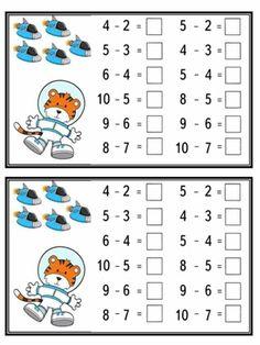 Mental Maths Worksheets, Subtraction Worksheets, 1st Grade Worksheets, Kindergarten Math Worksheets, Math Activities, Easter Activities For Kids, Math For Kids, Class 3 Maths, Ricardo Martins