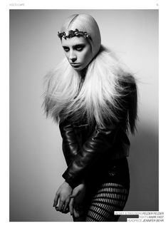 """Enjoy The Silence""   Model: Chloe Norgaard, Photographer: Sayuri Ichida, Volt Magazine, March 2012"