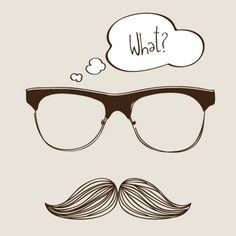 Vector Preto E Branco Mustache and glasses Vector Graphic – Free Vector Site Free Graphics, Vector Graphics, Moustache, Estilo Hipster, Hipster Background, Hand Drawn Arrows, Online Shopping, Photoshop Design, Free Vector Art