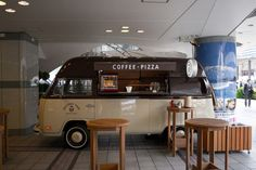 coffee and pizza...