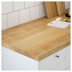 MÖLLEKULLA Countertop, oak, veneer, This wood countertop combines the best of solid wood and veneer. Ikea Wood Countertops, Countertop Materials, Quartz Countertops, Kitchen Worktop, Kitchen Reno, Kitchen Remodel, Ikea Family, Wide Plank, Work Tops
