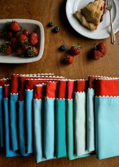 Molly's Sketchbook: Ric RacNapkins - Knitting Crochet Sewing Crafts Patterns and Ideas! - the purl bee
