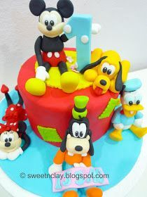 Sweet & Clay: All Time Favourite : ~ Mickey, Minnie, Donald, Daisy, Goofy and Pluto
