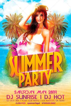 Summer Party 2014 Flyer Template - http://www.ffflyer.com/summer-party-2014-flyer-template/ Summer Party 2014 Flyer Template  A good way to promote your summer party in your club!  #Beach, #Dance, #Dj, #Fashion, #Nightclub, #Party, #Pool, #Summer, #Sun