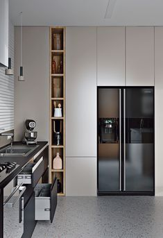 Modern Kitchen has never been so Fashionable! Since the beginning of the year many girls were looking for our Beautiful guide and it is finally got released. Now It Is Time To Take Action! Kitchen Room Design, Kitchen Cabinet Design, Modern Kitchen Design, Home Decor Kitchen, Interior Design Kitchen, Kitchen Furniture, Home Kitchens, Kitchen Design Gallery, Furniture Design