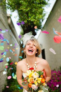 Honeycomb wedding confetti