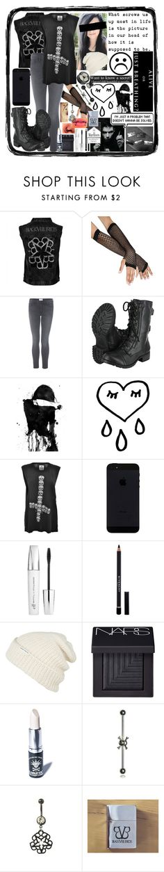"""""""Alive Or Just Breathing?"""" by i-am-the-one-and-only ❤ liked on Polyvore featuring Frame Denim, Disney, UNIF, e.l.f., Givenchy, Krochet Kids, NARS Cosmetics and Manic Panic"""