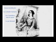 Honoré de BALZAC - La Comédie Humaine - Les Comédiens sans le savoir - Livre audio - YouTube
