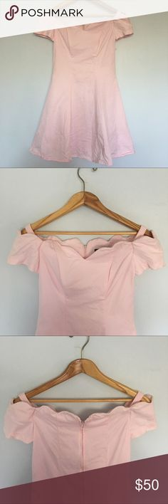 Vintage 80's All That Jazz off the Shoulder Dress Vintage 80's dress in perfect condition. Appears to have never been worn. Super cute and on trend with today's style. Off the shoulder and baby pink. 100% Cotton. All That Jazz Dresses Mini