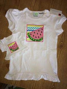 Check out this item in my Etsy shop https://www.etsy.com/listing/289633035/summer-fun-and-watermelon-matching-girl