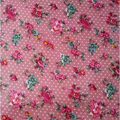 Vintage Floral Ripstop in Pink Waterproof Fabric, Vintage Floral, Red, Pink, Hot Pink, Pink Hair, Rose, Vintage Flowers