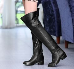ReShop Store now has Genuine Leather W... - http://www.reshopstore.com/products/genuine-leather-women-winter-long-boots-over-the-knee-buckle-low-heel-up-to-size-11-5?utm_campaign=social_autopilot&utm_source=pin&utm_medium=pin